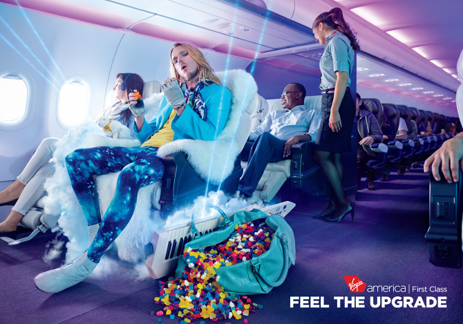 For These Print And OOH Ads, We Dramatized The Feeling Passengers Get When  They Upgrade To First Class Or Main Cabin Select. Feels Like The Feeling  Feels ...