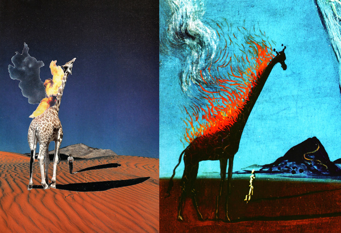 salvador dali flaming giraffes